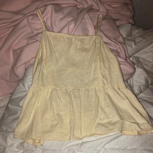 baby yellow bow tie back tank